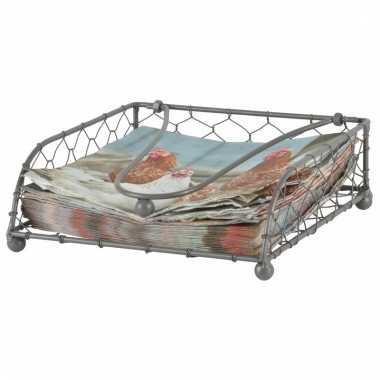 Metaaldraad servethouder 18 x 18 cm