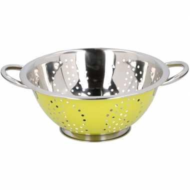 Metalen keuken vergiet groen