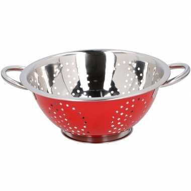 Metalen keuken vergiet rood 24 cm