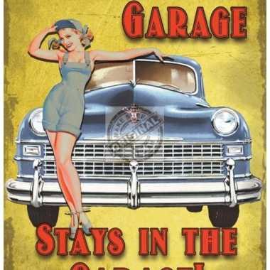 Metalen plaat de garage