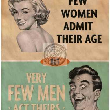 Metalen plaatje admitting age