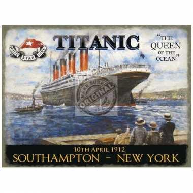Metalen plaatje decoratie titanic