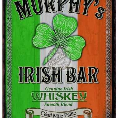Metalen plaatje irish pub bar