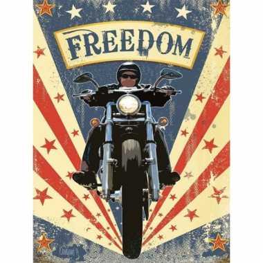 Metalen plaatje motorbikes freedom