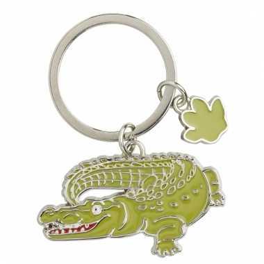 Metalen sleutelhanger krokodil 5 cm