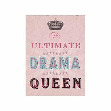 Metalen wand bordje drama queen
