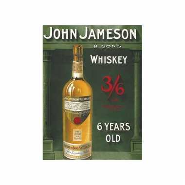 Metalen wand bordje john jameson