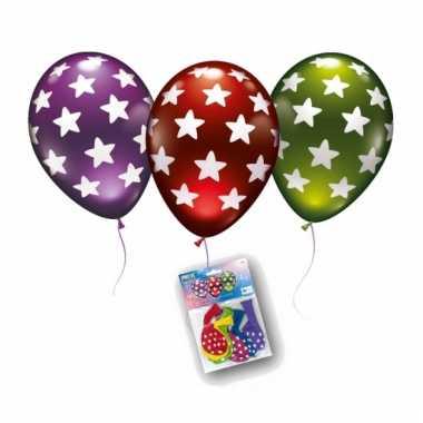 Metallic ballonnen met sterren opdruk