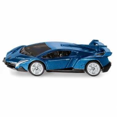 Metallic blauwe siku lamborghini veneno speelgoedauto