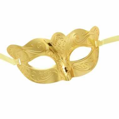 Metallic gouden oogmasker