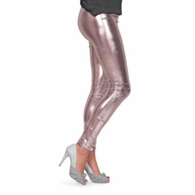 Metallic legging zilver