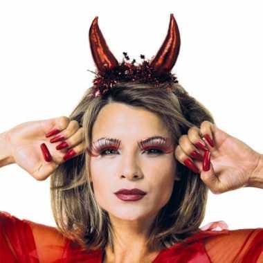 Metallic rode duivel tiara