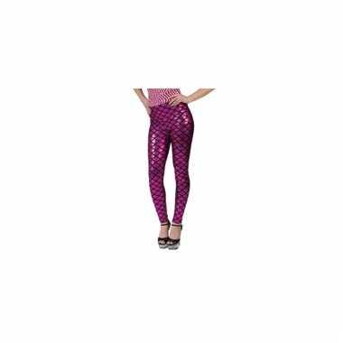 Metallic roze schubben legging