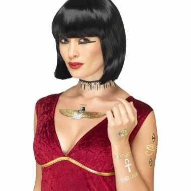 Metallic tattoos egypische stijl 7 stuks