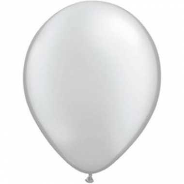 Metallic zilver qualatex ballonnen