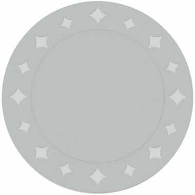 Metallic zilveren placemats 33 cm 6 stuks