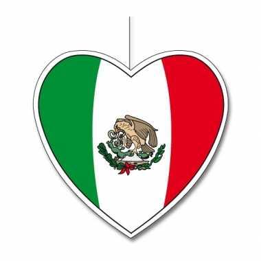Mexicaans decoratie hart 30 cm