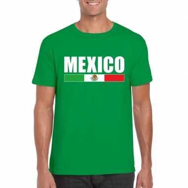 Mexicaanse supporter t-shirt groen voor heren