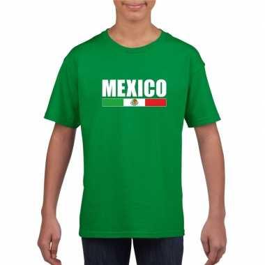Mexicaanse supporter t-shirt groen voor kinderen