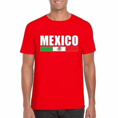 Mexicaanse supporter t-shirt rood voor heren