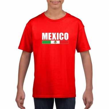 Mexicaanse supporter t-shirt rood voor kinderen