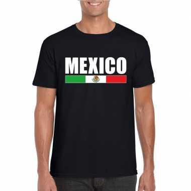 Mexicaanse supporter t-shirt zwart voor heren