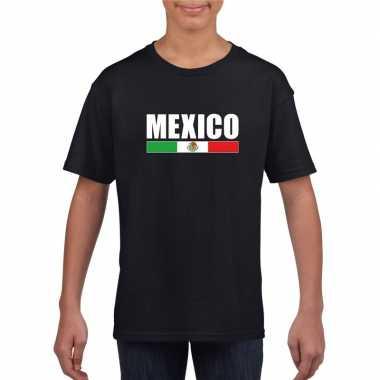 Mexicaanse supporter t-shirt zwart voor kinderen