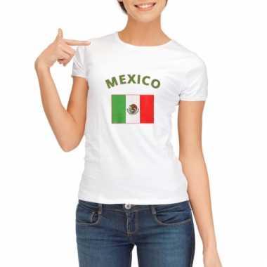 Mexicaanse vlag t-shirt voor dames