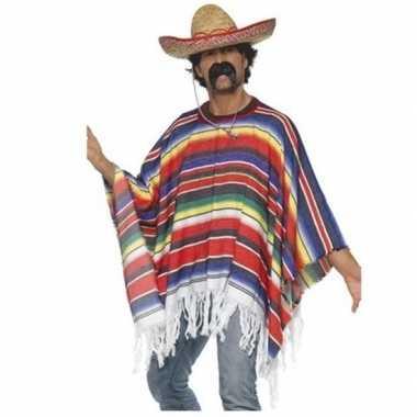 Mexico verkleed kleding poncho met hoed