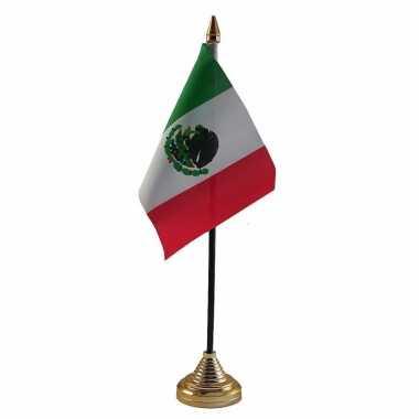 Mexico versiering tafelvlag 10 x 15 cm