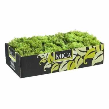 Mica decoratie rendiermos groen 500 gram/0,5 kilo