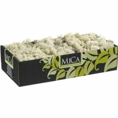 Mica decoratie rendiermos naturel 500 gram/0,5 kilo