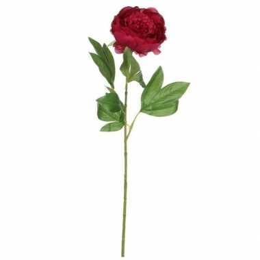Mica donker roze kunst pioen roos kunstbloemen 76 cm decoratie