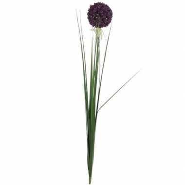 Mica paarse kunst allium/sierui kunstbloemen 80 cm decoratie