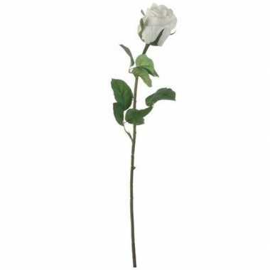 Mica witte kunstroos kunstbloemen 69 cm decoratie