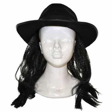 Michael jackson pruik met hoed