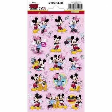 Mickey en minnie mouse stickervel