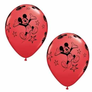 Mickey mouse ballonnen 6 stuks