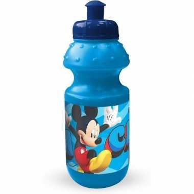 Mickey mouse pop-up schoolbeker blauw 350 ml