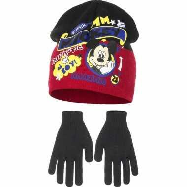 Mickey mouse winter muts en handschoenen