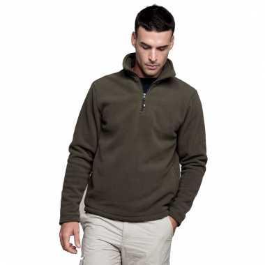 Micro polar fleece sweater voor heren