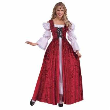 Middeleeuwse jurk met fluweel look
