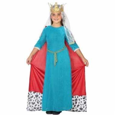 Middeleeuwse koningin verkleedjurk voor meisjes