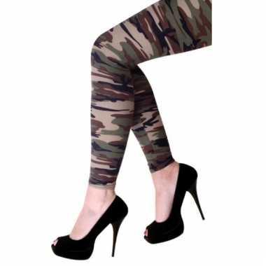 Military look legging dames