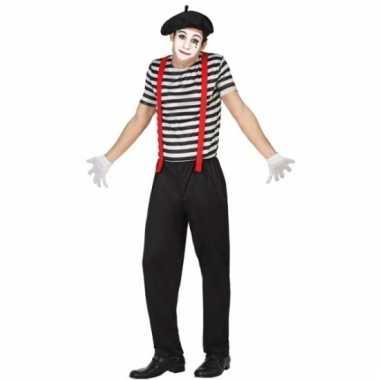 Mime verkleedkleding voor mannen