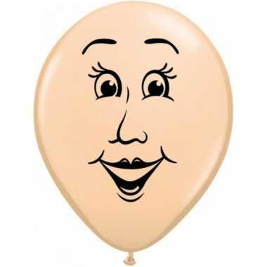 Mini ballon vrouw 13 cm