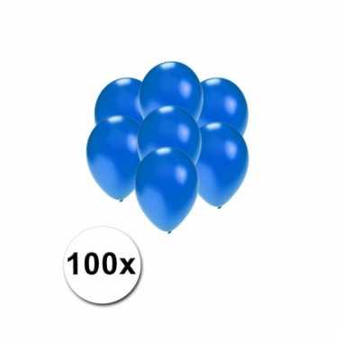 Mini ballonnen blauw metallic 100 stuks