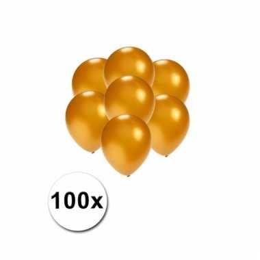 Mini ballonnen goud metallic 100 stuks