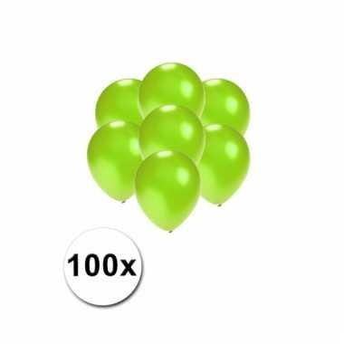 Mini ballonnen groen metallic 100 stuks