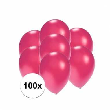 Mini ballonnen roze metallic 100 stuks